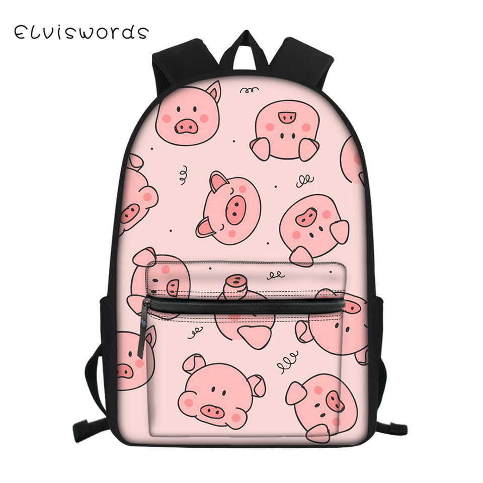 ELVISWORDS Fashion Children 39 s School Backpack Cartoon Animal Pattern Students Book Bag for Boys Girls Cute Kids Travel Backpacks in School Bags from Luggage amp Bags