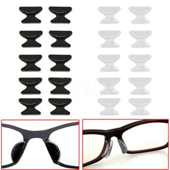 2Pairs Anti Slip Silicone Nose Pads for Eyeglasses Sunglass Glass Spectacles slip nose pads increased eyewear accessories Men's Eyewear Accessories