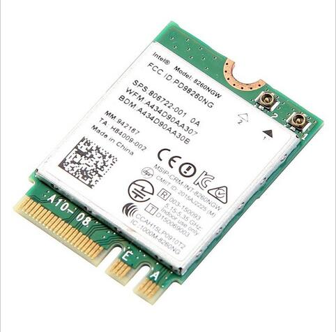 Intel Wireless-ac 8260 8260ngw Ngff Dual Band Card 802.11a / b / g / n / ac 867mbps + Bluetooth 4.2 Wifi Card 7260 7265ac სწრაფი Ethernet