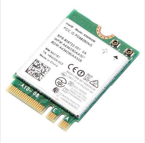 Intel tarjeta ngff dual band wireless-ac 8260 8260ngw 802.11a/b/g/n/ac 867 100mbps + bluetooth 4.2 wifi tarjeta 7260 7265ac fast ethernet
