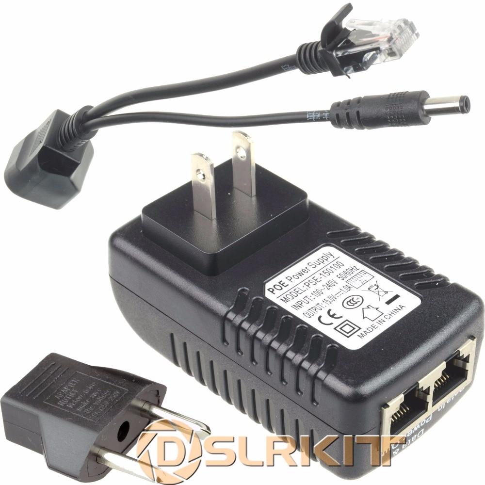 Power Over Ethernet Kit PoE(15V Injector+ Passive Splitter) For 12V IP Camera AP