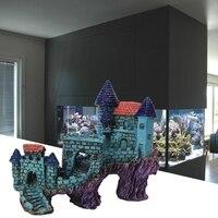 Dimart Super Magical Simulation European Villas Castle Aquarium Ornament Fish Tank Decorations Blue By Dimart
