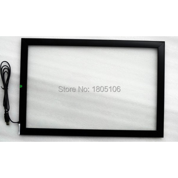 46 inch infrared touch panel/ir touch screen kiosk,16:9,plug and play (mac,android,windows)