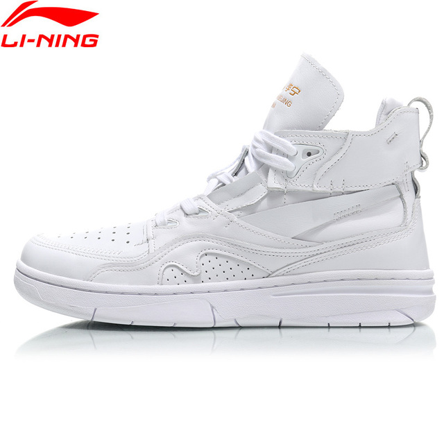 Li-Ning Men PFW 937 ACE Basketball Culture Shoes Wearable Genuine Leather LiNing Sport Shoes Sneakers AGBN067 XYL194