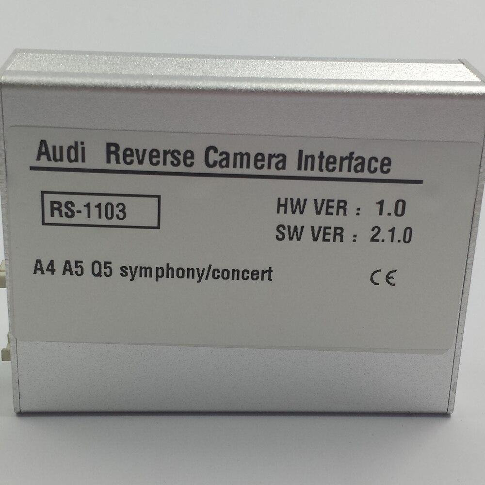 Plug and Play Установка Автомобильная электроника Аксессуары сзади Камера в видео Интерфейс для Audi A4 2013 концерт радио