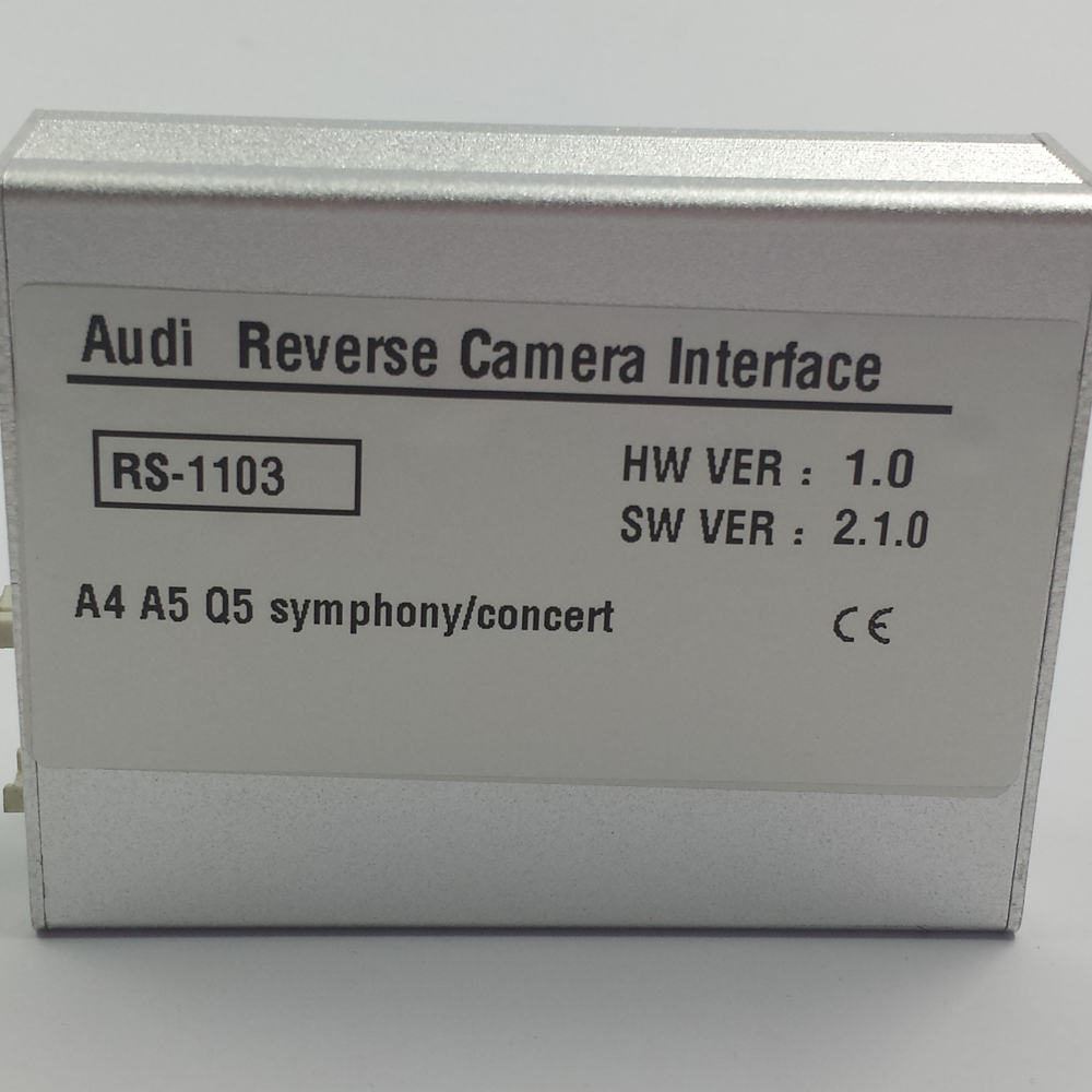 Plug and Play Installation Car Electronics Accessories Rear Camera In Video Interface For Audi A4 2013 Concert Radio