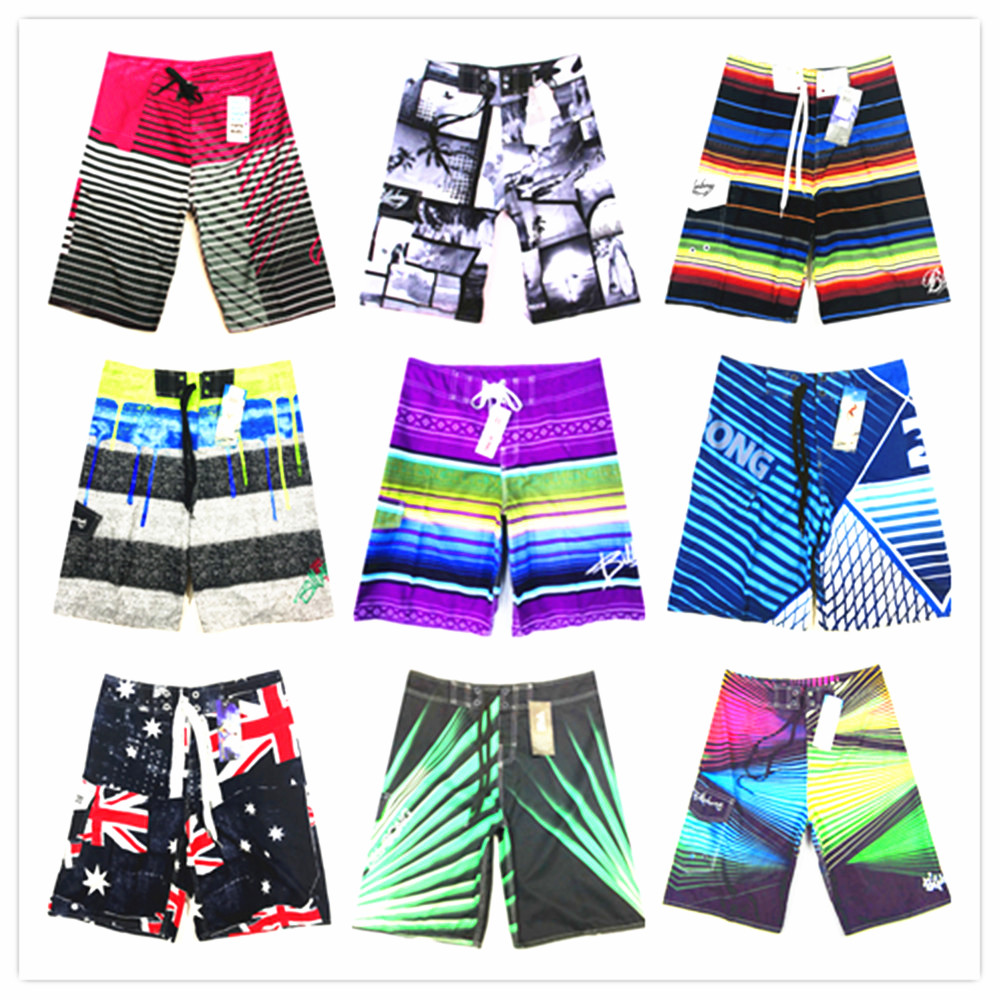 2019 Brand Beach   Board     Shorts   Men Swimwear Bathing Swimsuit Bermuda Male   Short   Pants Silver Sexy 100% Quick Dry Boardshorts