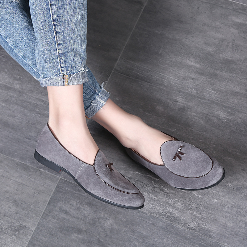 M-anxiu Man Formal Shoes 2018 Fashion Tassel   Suede   Moccasins Shoes   Leather   Casual Loafers Slip On Oxfords Men's Flats Big Size