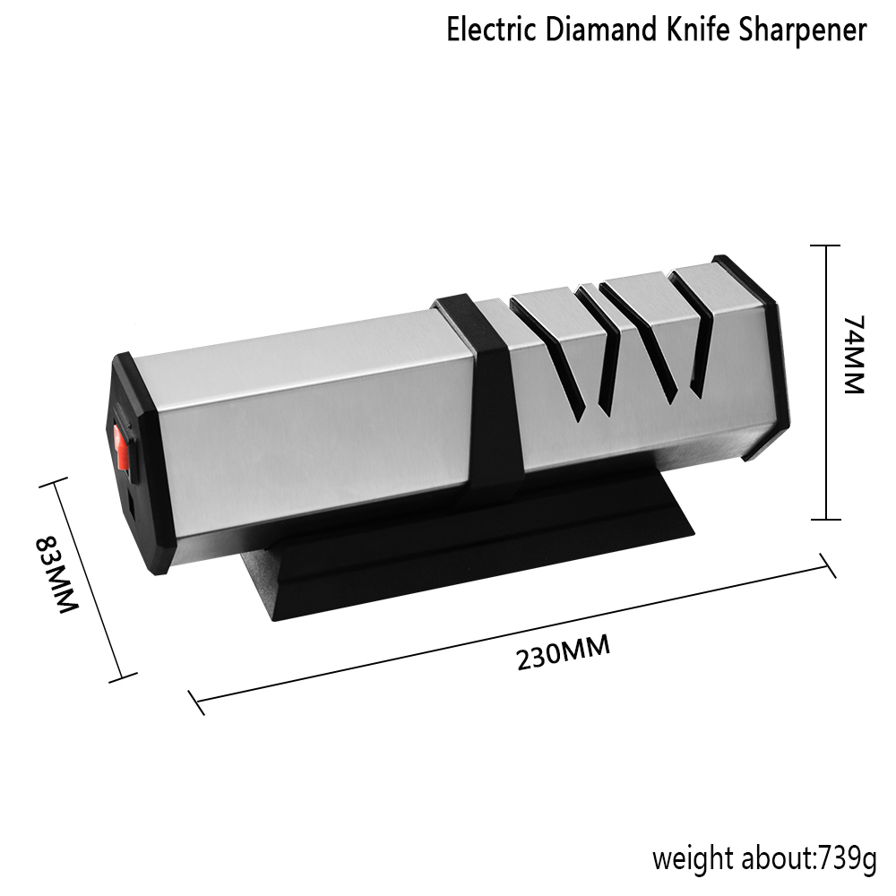 Image 5 - XYj 4 Stage Electric Knife Sharpener Professional Kitchen Knife Sharpening Tool Diamond Grind Sharper For Steel&Ceramic Knives-in Sharpeners from Home & Garden