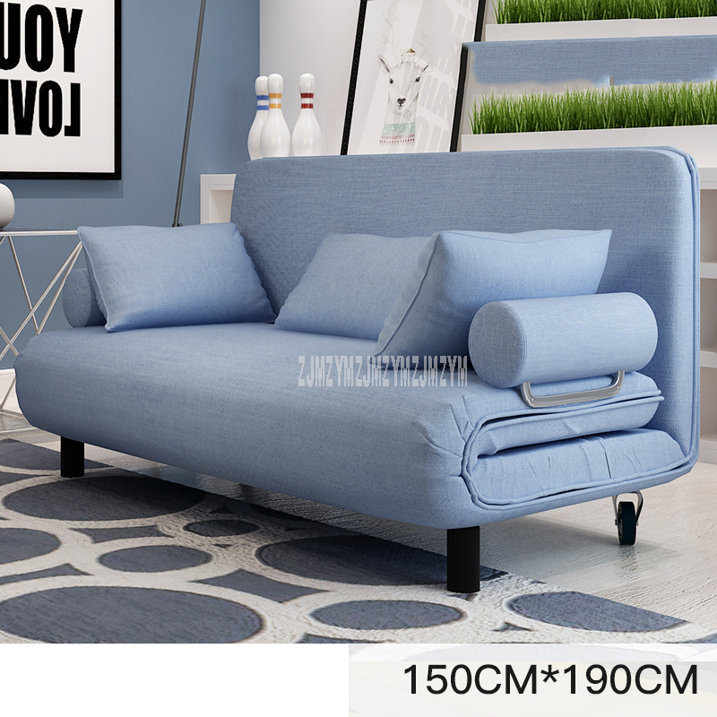 Carbon Steel Frame Living Room Sofa Bed Furniture Modern Washable Linen Cotton Sponge Filler Multifunctional Sofa Bed