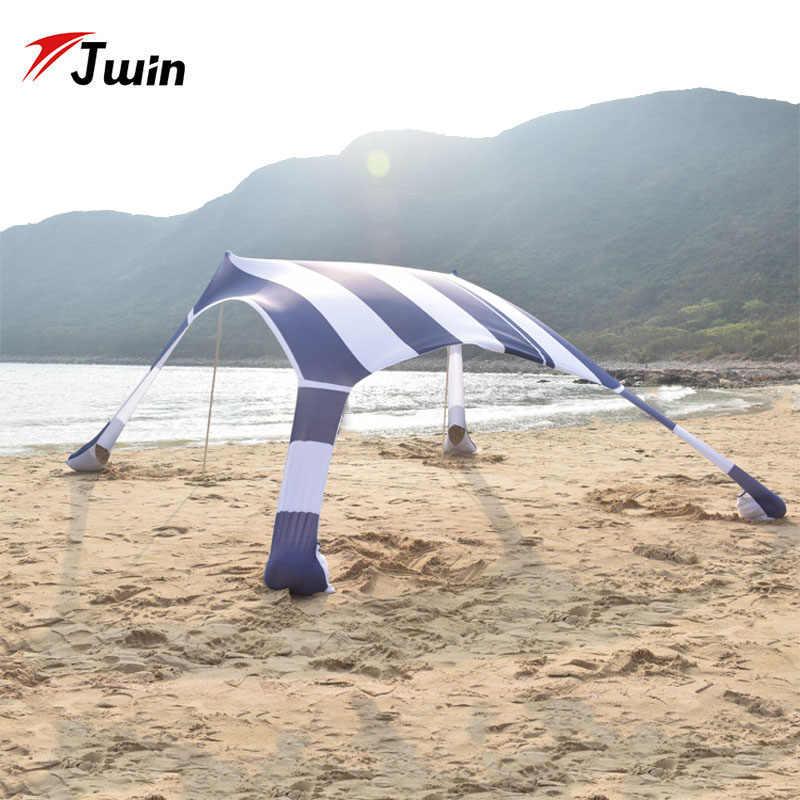 Été touristique Parasol abri de soleil plage tente UPF50 + extérieur auvent soleil auvent plage ombre Parasol plage bâche Toldos