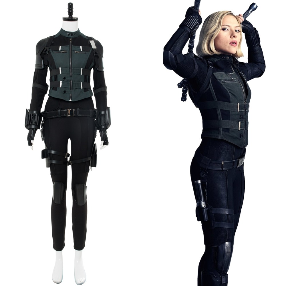 Avengers: Infinity War Black Widow Cosplay Costume ...