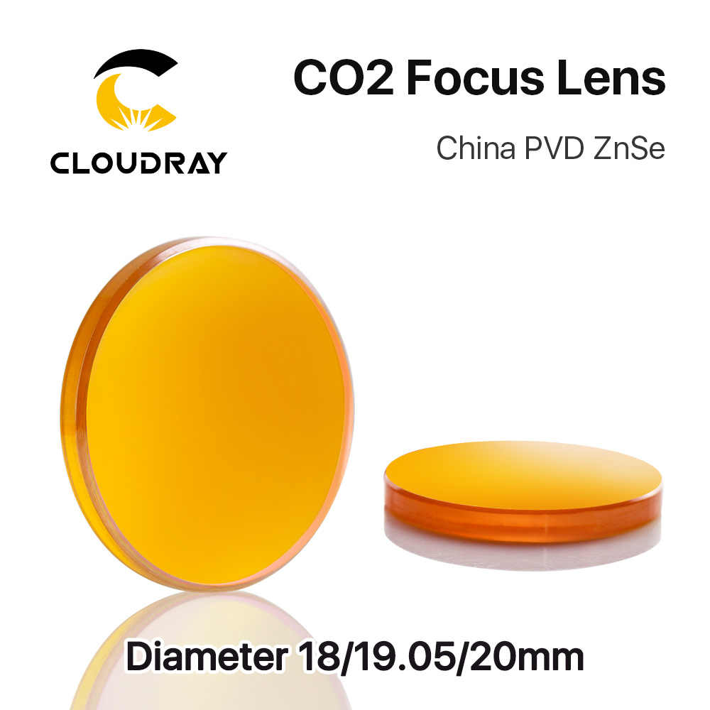 """Cloudray 中国 CO2 znse フォーカスレンズ Dia.18 19.05 20 ミリメートル FL38.1 50.8 63.5 101.6 127 ミリメートル 1.5 - 4 """"レーザー彫刻切断機用"""