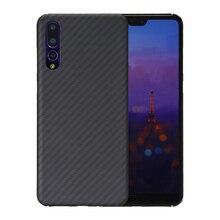 Luxe Telefoon Case Voor Huawei P20 Pro Cover Ultra Dunne Matte Aramid Fiber Case Voor Huawei P20   Carbon Fiber patroon