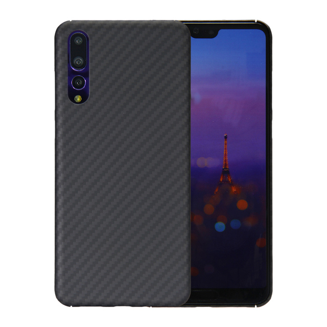 Luxury Phone Case For Huawei P20 Pro Cover Ultra Thin Matte Aramid Fiber Case For Huawei P20   Carbon Fiber Pattern