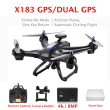 Global Drone X183 DUAL GPS Quadrocopter with 4K Wifi Camera X183 GPS RC Drone Follow me 6-Axis Gyro Quadcopter(China)