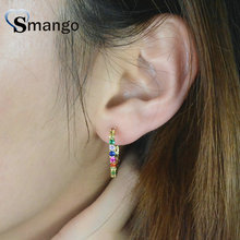 5 Pairs,The Rainbow Series Circle Earrings for Women,,Fashion Design.4 Plating Color,Can Mix .Can Wholesale