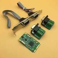 MINI PCI-E плата последовательного доступа RS422/485 сигнал плат расширения EXRA 17V352 DB9 Pin mini карта PCI-E адаптер
