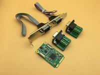 MINI PCI E Serial Card RS422 / 485 Signal Expansion Cards EXRA 17V352 DB9 Pin mini PCIE Card Adapter