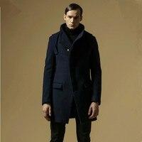 Icpans Wool Coats Men Winter Overcoat Hooded Wool Blends Long Jacket Men sobretudo masculino Big Size M 3XL Men Coats Jackets