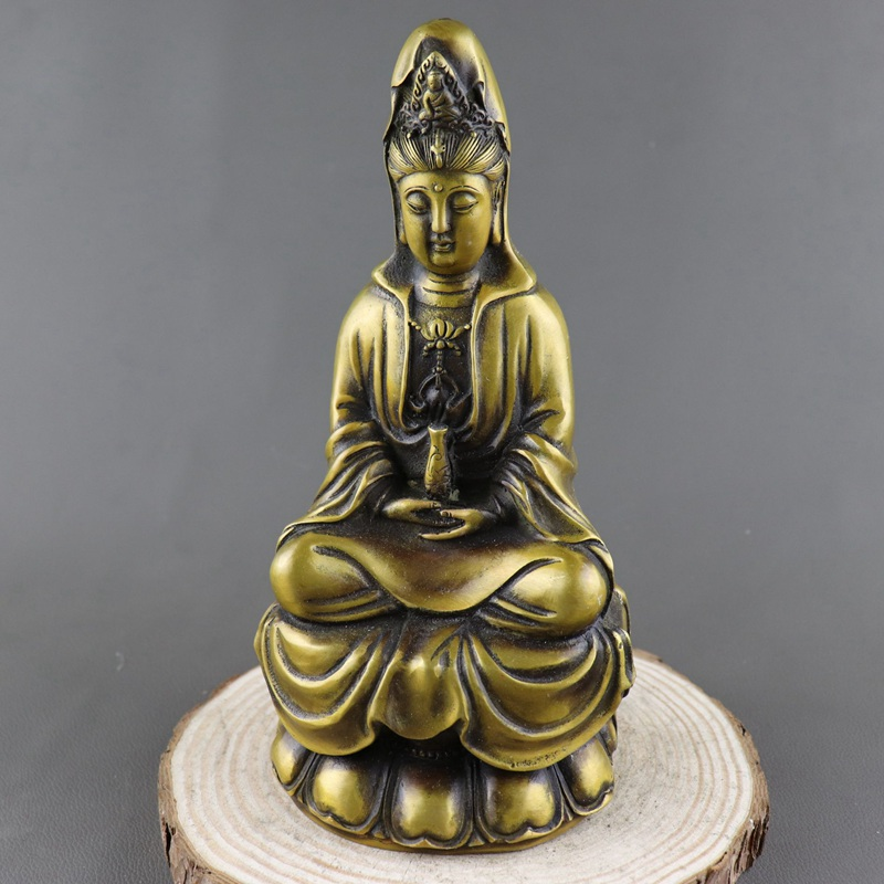 Home Decorators Collection Coupon Free Shipping: Antique Old QingDynasty Copper Statue, Buddha Sculpture