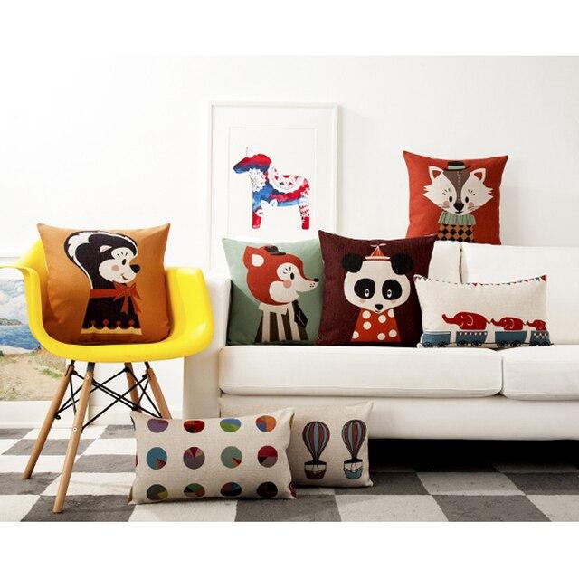 lindos animales de circo ilustracin elemento ldico cojines decoracin para el hogar rojo silla cojn nordic