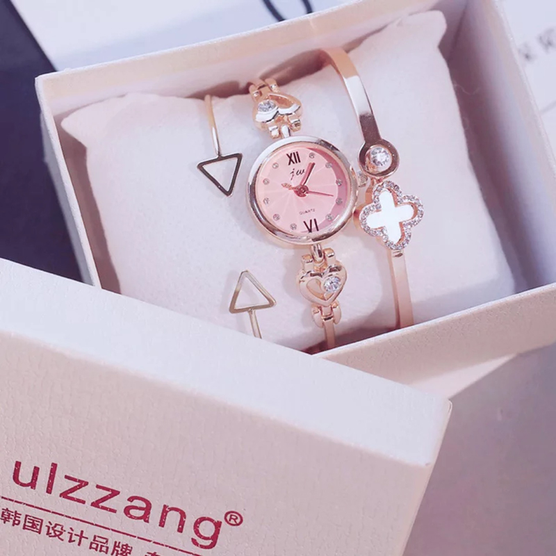 34e45840a5a 3PC Set Ulzzang Style Women Watches Fashion Party Ladies Watch Creative  Design Bracelet Watch Luxury Relojes Mujer 2018 relogios-in Women s Watches  from ...