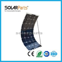 100W High Efficiency Semi Flexible Solaf Panels For RV Boat Golf Cart Marine Yachts Home Use