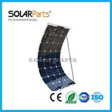 Solarpats 1pcs 100W high efficiency semi flexible PV solar panels power cell modules for Boat Golf