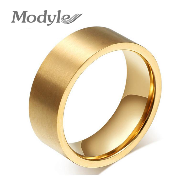 Modyle Fashion Wedding Rings for Men and Women Stainless Steel ...