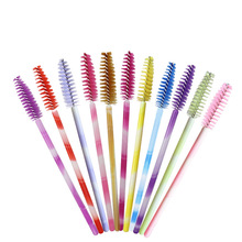 1000pcs/pack Colorful Eyelash Brushes Mascara Wands Extension Disposable Eye Lashes Brush Eyebrow Mini Makeup Tool