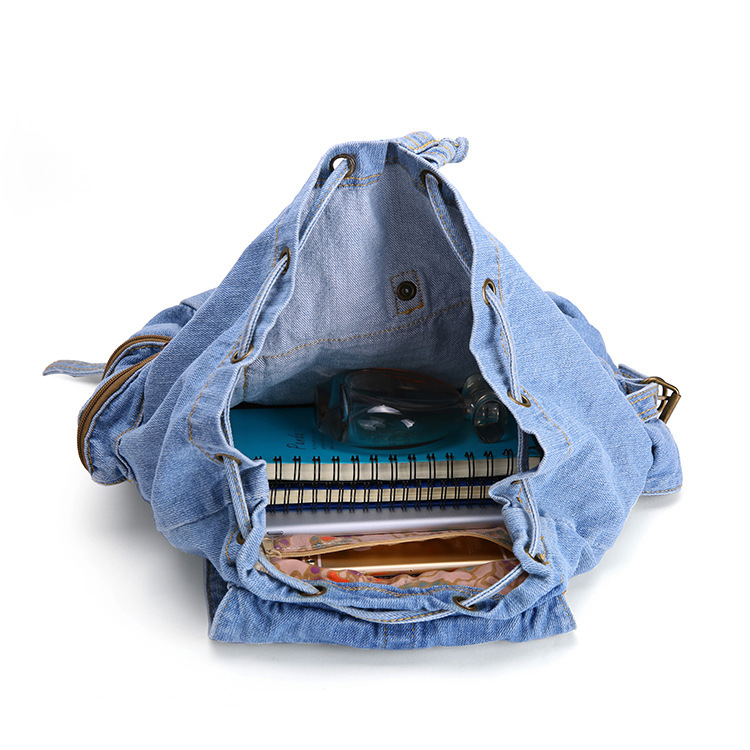 Aliexpress.com : Buy Classical School Girls Vintage Denim Backpack ...