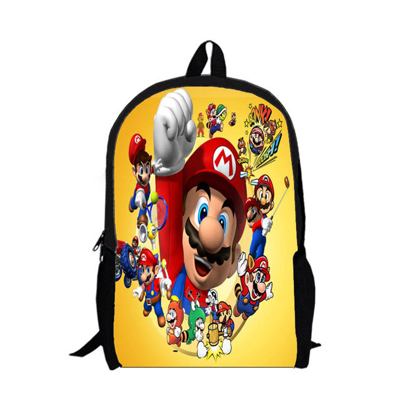 2017 fashion 3D super mario cartoon backpack doraemon childrens school bag best selling super mario bros kids bags High Quality