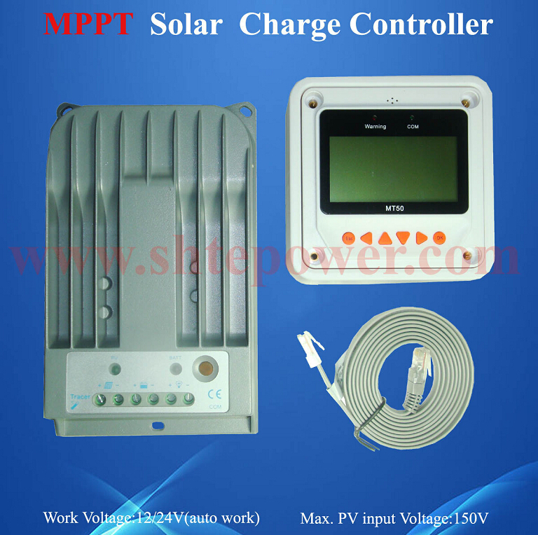 ce and rohs 12v 24v 10A mppt solar control Tracer 1215BN with lcd ce rohs standard formaldehyde monitor with temper and rh
