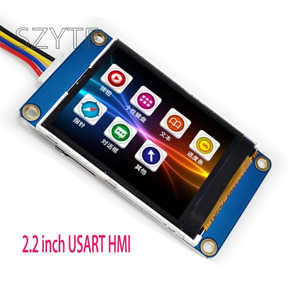 1 Uds. 2,2 pulgadas USART HMI pantalla integrada Serie Smart character GPU TFT LCD módulo 240*320 Para Arduino UNO R3 Mega2560 TFT LCD, pantalla de visualización táctil, pantalla táctil de 2,4 pulgadas, módulo LCD, 18 bits, 262.000 pantallas diferentes