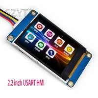 1 sztuk 2.2 calowy ekran USART HMI zintegrowany szeregowy inteligentny znak GPU moduł tft lcd 240*320