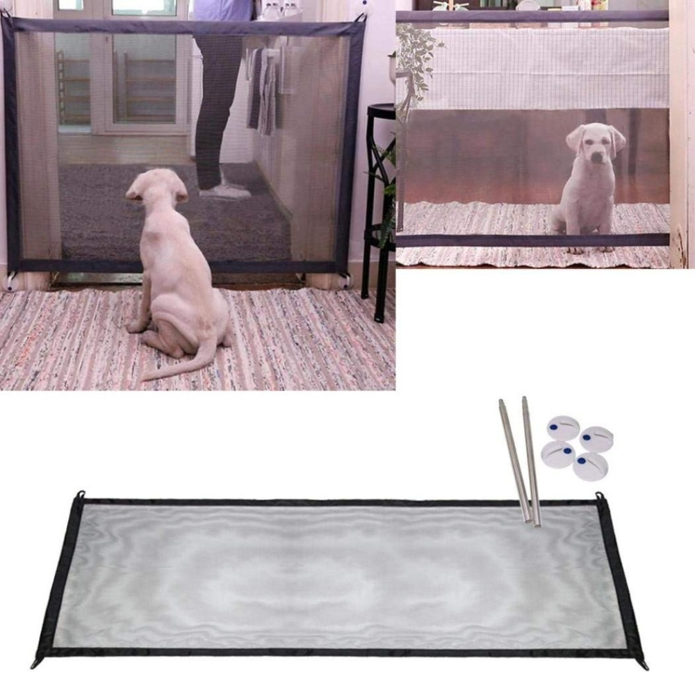 2018 The Ingenious New Mesh Magic Pet gate Safe Guard and Install anywhere Pet safety Enclosure