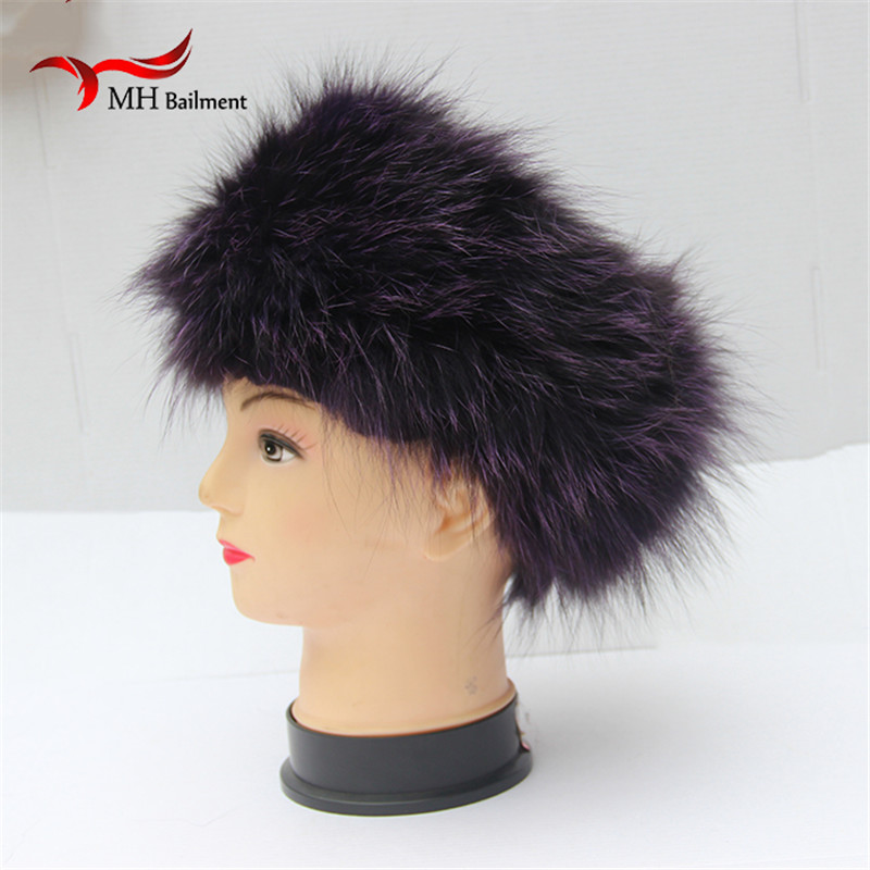 Autumn Winter women fur headband real fox fur scarf warm ear protecter headband New women knitted fur headwarps S#32