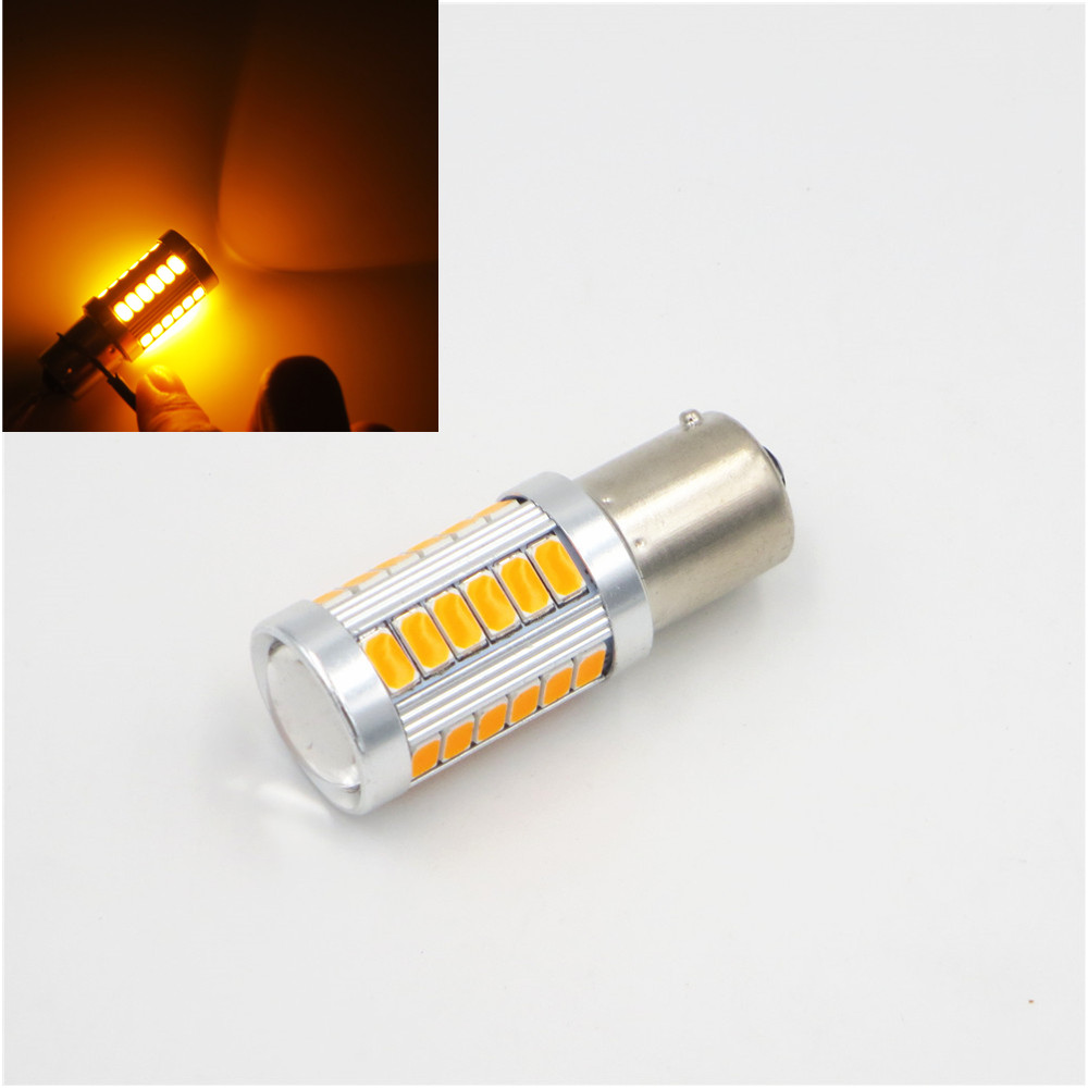 CYAN SOIL BAY 1pc 1156PY BAU15S PY21W 150 Degree LED Daytime Running Fog Light Amber Orange Yellow Bulb 33-SMD 33SMD 5630 12V cyan soil bay amber yellow red h1 4014 led 92 smd high power car fog driving light bulb lamp