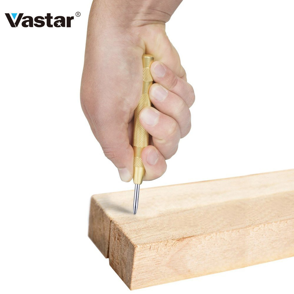 Vastar Drill Automatic Center Pin Punch Drill Bit Tools Power Tools Spring Loaded Marking Starting Holes Tool Center Punch