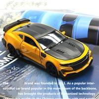Simulation for Chevrolet Hornet Kemai Toy Car Model Alloy Super Racing Sports Car Model Children's Sound Light Pull Back Toy Car