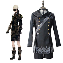 купить Game NieR:Automata Cosplay Costumes YoRHa 9 Gou S Gata Cosplay Costume 9S Uniform Halloween Carnival Party Anime Cosplay Costume дешево