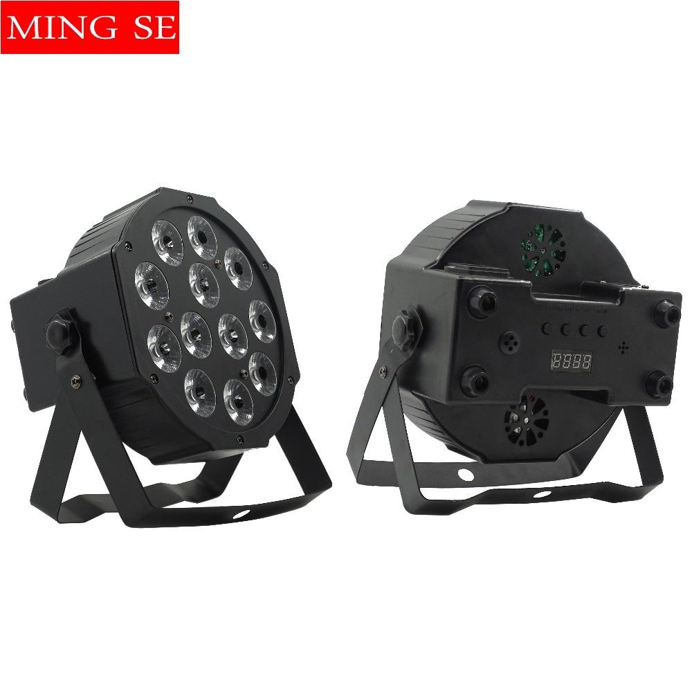 12pcs  12w Led  Lamp Beads 12x12W Led Par Lights RGBW 4in1 Flat Par Led Dmx512 Disco Lights Professional Stage Dj Equipment