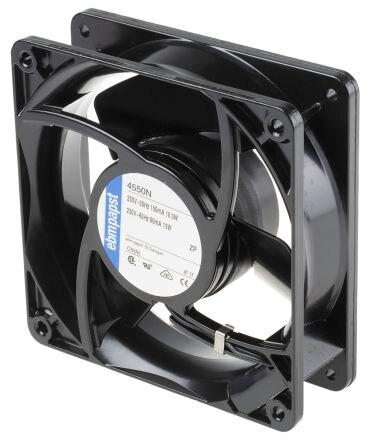 Ebmpapst 4550N Size 119 X 119 X 38mm 230 V AC Cooling Fan  Air Flow 145m3/h 2550rpm Compact Fan