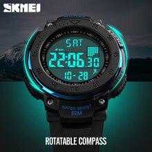 SKMEI Brand Men LED Digital Watch Sports Watches 3D Pedometer Multifunctional Relojes Waterproof Relogio Masculino Wrist