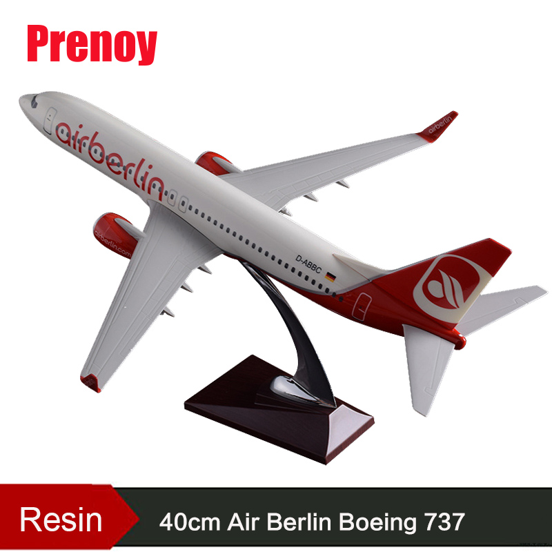 40cm Boeing 737 Resin Berlin Aircraft Model Air Berlin Airplane Airbus Model B737 Plane Airways Model Stand Craft Adult Gift Toy 40cm resin aircraft model boeing 737 nigeria airways airplane model b737 med view airbus plane model stand craft nigeria airline