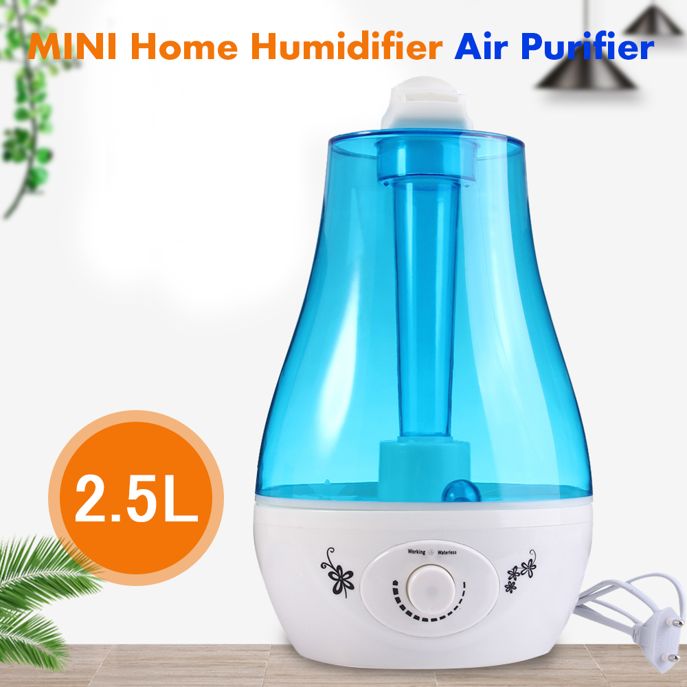 eu us plug tabletop 3l water bottle mini health ultrasonic humidifier air purifier with led lamp. Black Bedroom Furniture Sets. Home Design Ideas