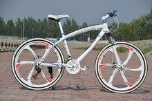 (LA RUSSIE SEULEMENT) 26 «pouces 21 vitesse vtt, une roue de pièce bisiklet vélo, double disque freins bicicleta vtt
