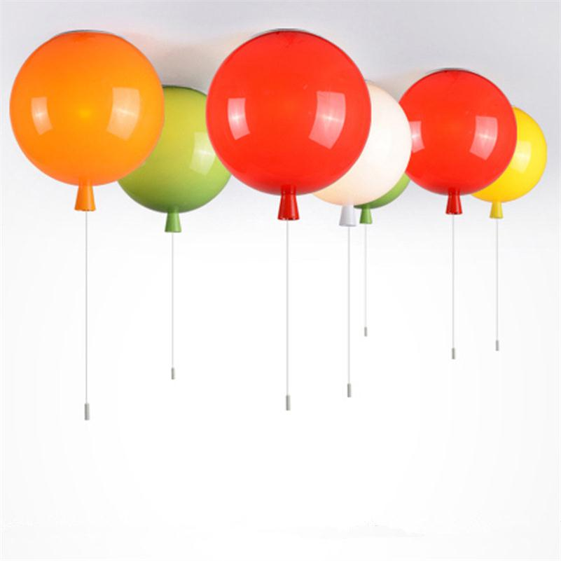 Lights & Lighting Ceiling Lights & Fans Romantic Colorful Balloon Ceiling Lights Baby Childrens Room Cozy Lamp Lustre Luminarias Minimalist Plafonnier Moderne Lamparas De Techo
