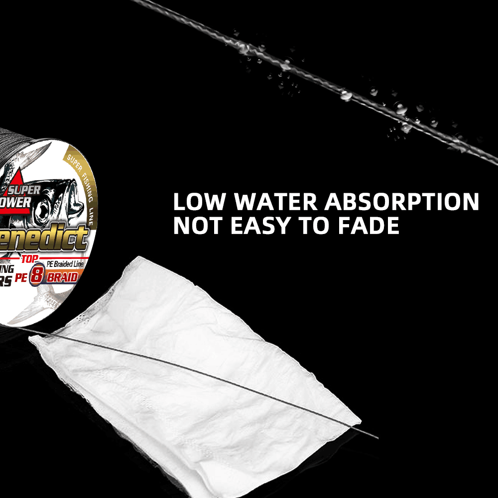 Image 4 - Braided fishing line 8 strands 8 300LBS never faded black long line 1500M 2000M pe braided wires thread fishing takle online-in Fishing Lines from Sports & Entertainment